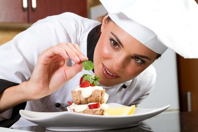 female pastry chef